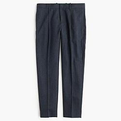 Wallace & Barnes herringbone wool pleated tapered trouser