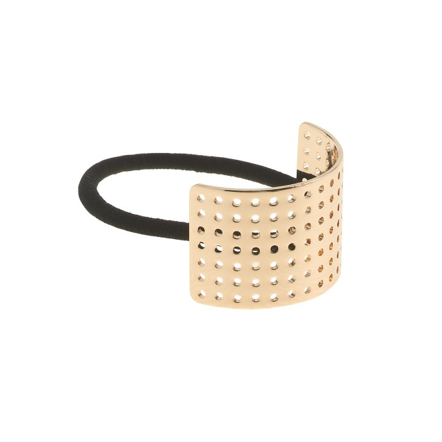 Curved metal perforated hair band
