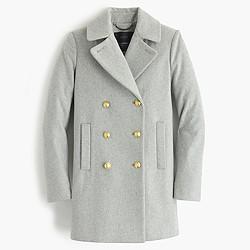 Wool melton peacoat
