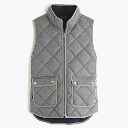 Petite excursion quilted vest in flannel