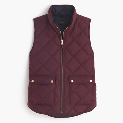 Excursion quilted vest in flannel