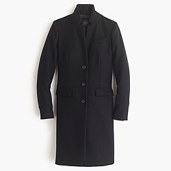Petite Regent topcoat in double-serge wool