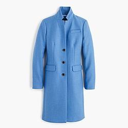 Regent topcoat in double-serge wool