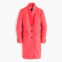 Petite Regent topcoat in double-serge wool