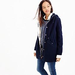 Stadium-cloth anorak coat