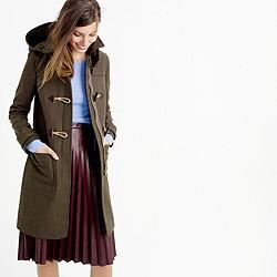 Wool melton toggle coat