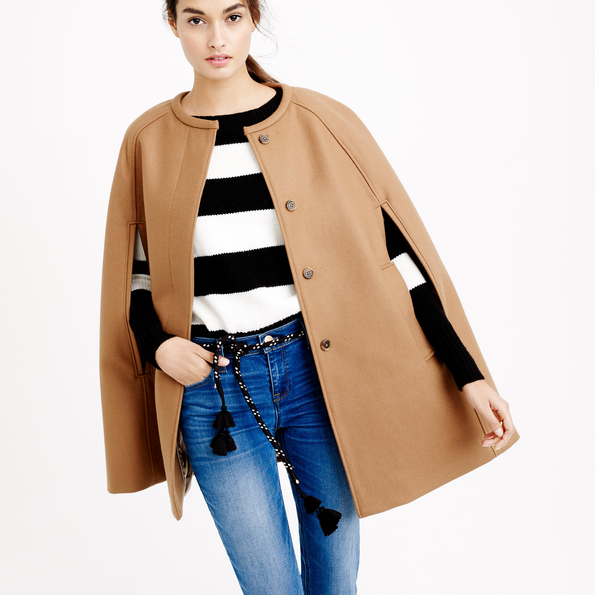 Cape jacket in wool melton : | J.Crew