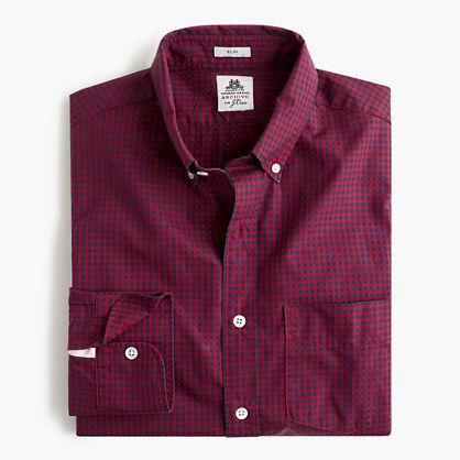 Slim Thomas Mason® for J.Crew shirt in danbury red gingham