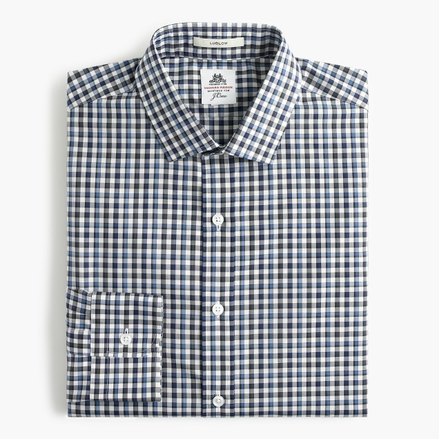 Thomas Mason® for J.Crew Ludlow shirt in baltic tattersall