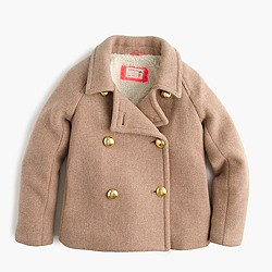 Girls' short peacoat