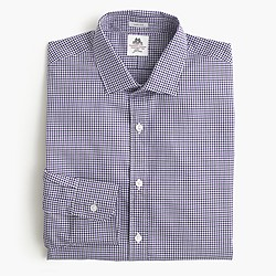 Thomas Mason® for J.Crew Ludlow shirt in grape tattersall