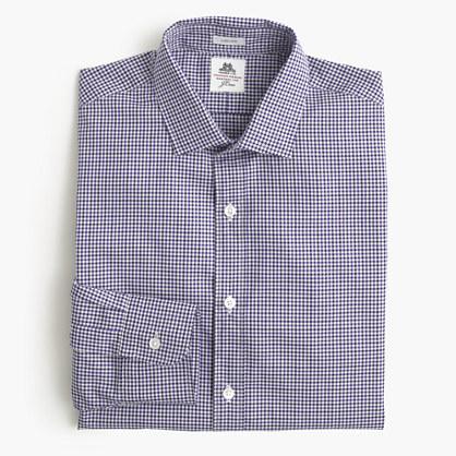 Thomas Mason For J Crew Ludlow Shirt In Grape Tattersall