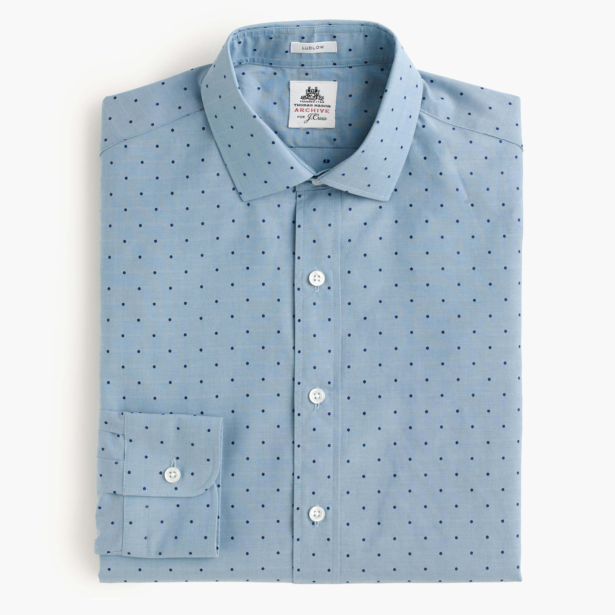 Thomas Mason Archive For J Crew Ludlow Shirt In Woven
