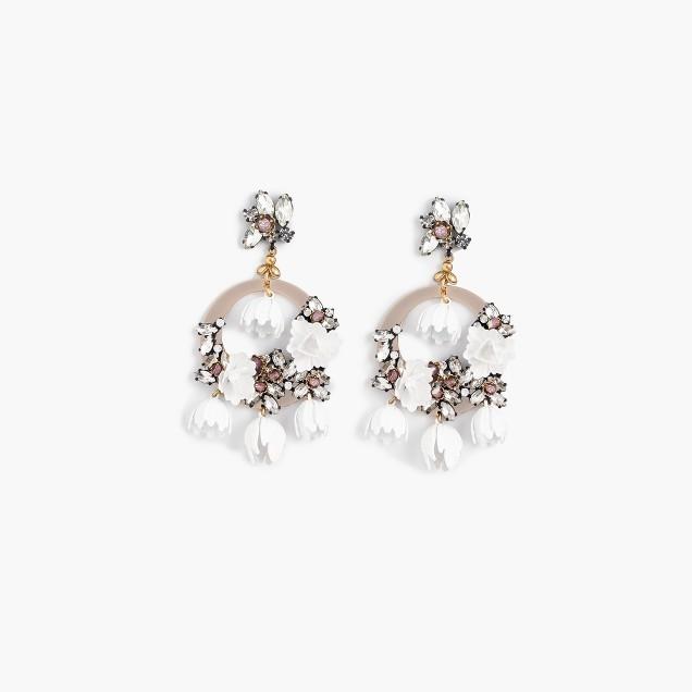 Garden party statement earrings