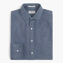 Albiate 1830 for J.Crew Ludlow shirt in baltic sea chambray