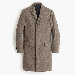 Ludlow topcoat in herringbone English wool