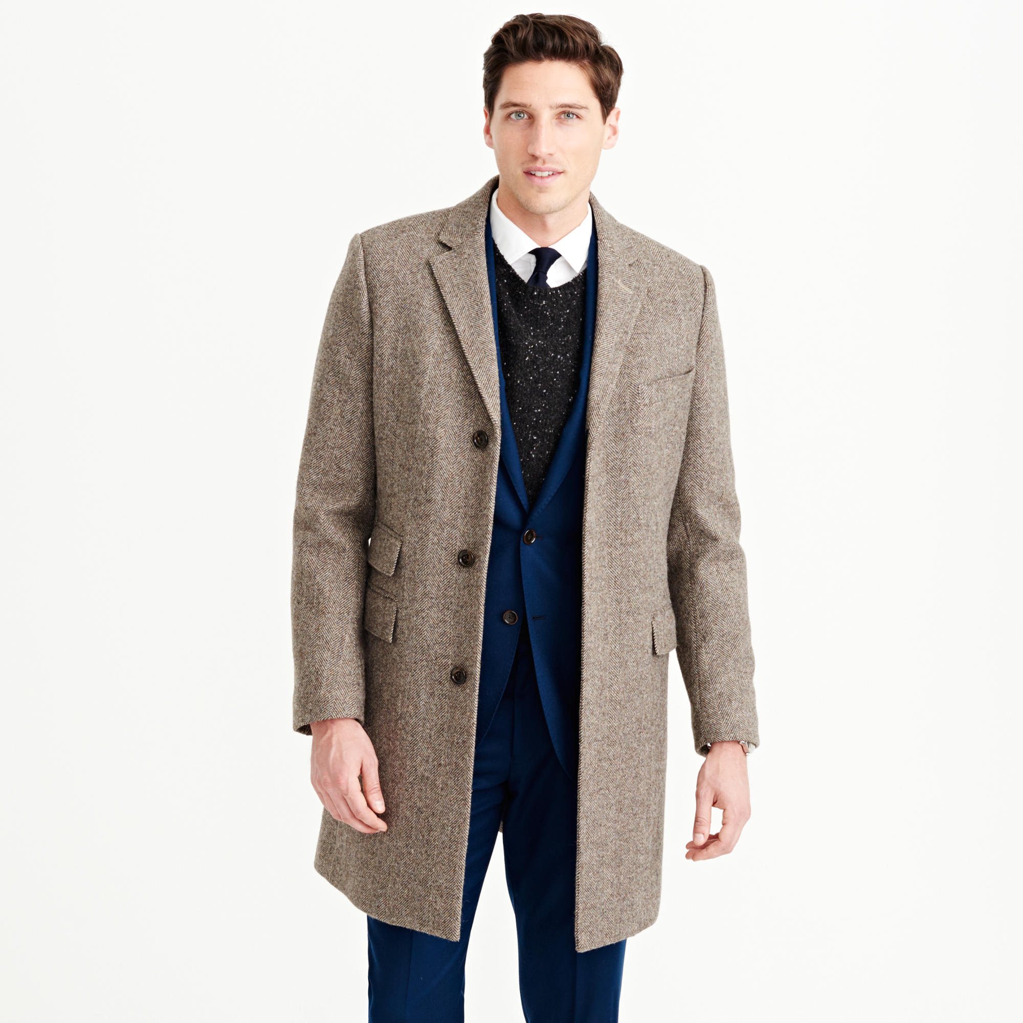 Ludlow topcoat in herringbone English wool : | J.Crew