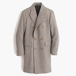 Ludlow double-breasted topcoat in English wool