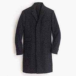 Ludlow topcoat in  navy glen plaid English wool