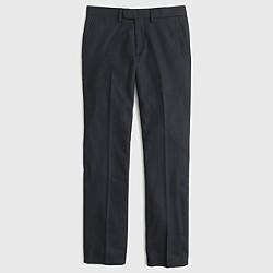 Bowery slim pant in chalk-striped Italian wool
