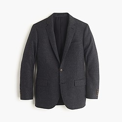 Ludlow blazer in windowpane English lambswool