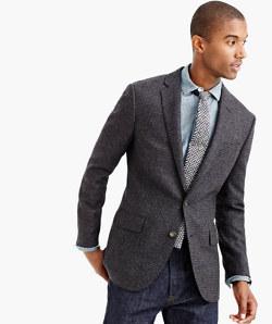 Ludlow blazer in windowpane English lambswool