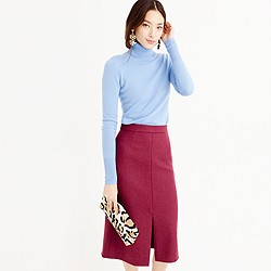 A-line midi skirt in double-serge wool