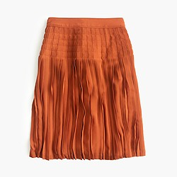 Micropleated midi skirt