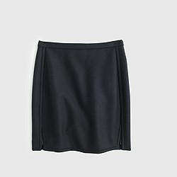 Double-notch mini skirt