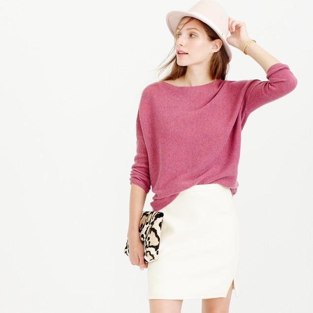 Double-notch mini skirt