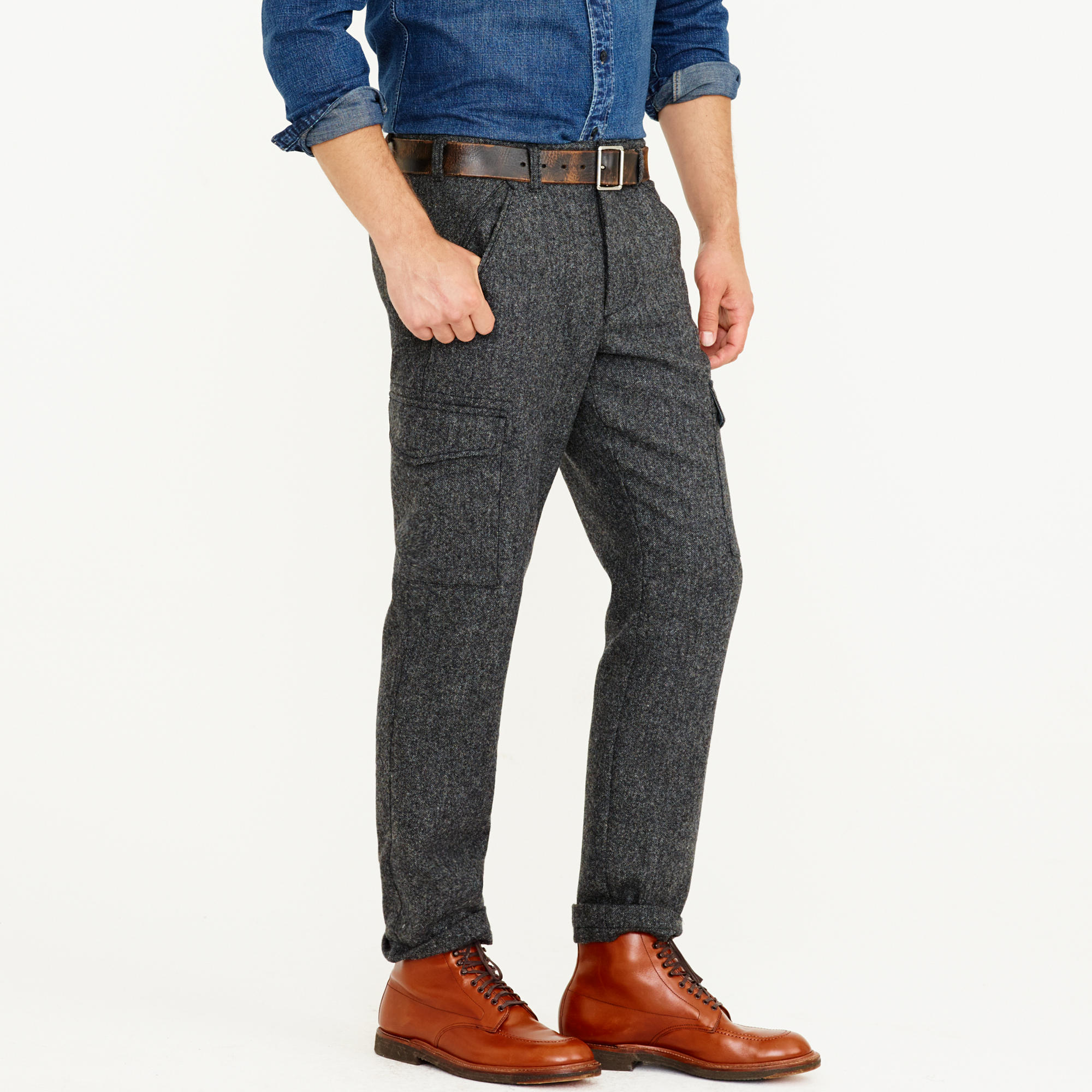 Wallace & Barnes Donegal wool cargo pant : Men wallace & barnes ...
