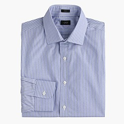 Crosby shirt in striped end-on-end cotton