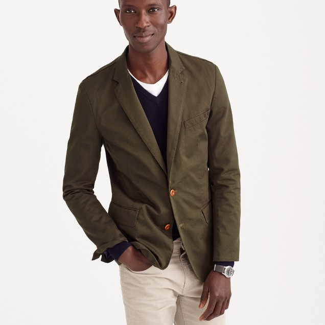 Ludlow blazer in Italian garment-dyed cotton :