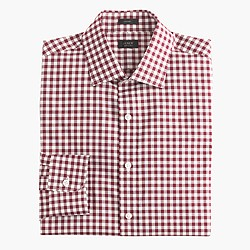 Crosby shirt in classic burgundy gingham