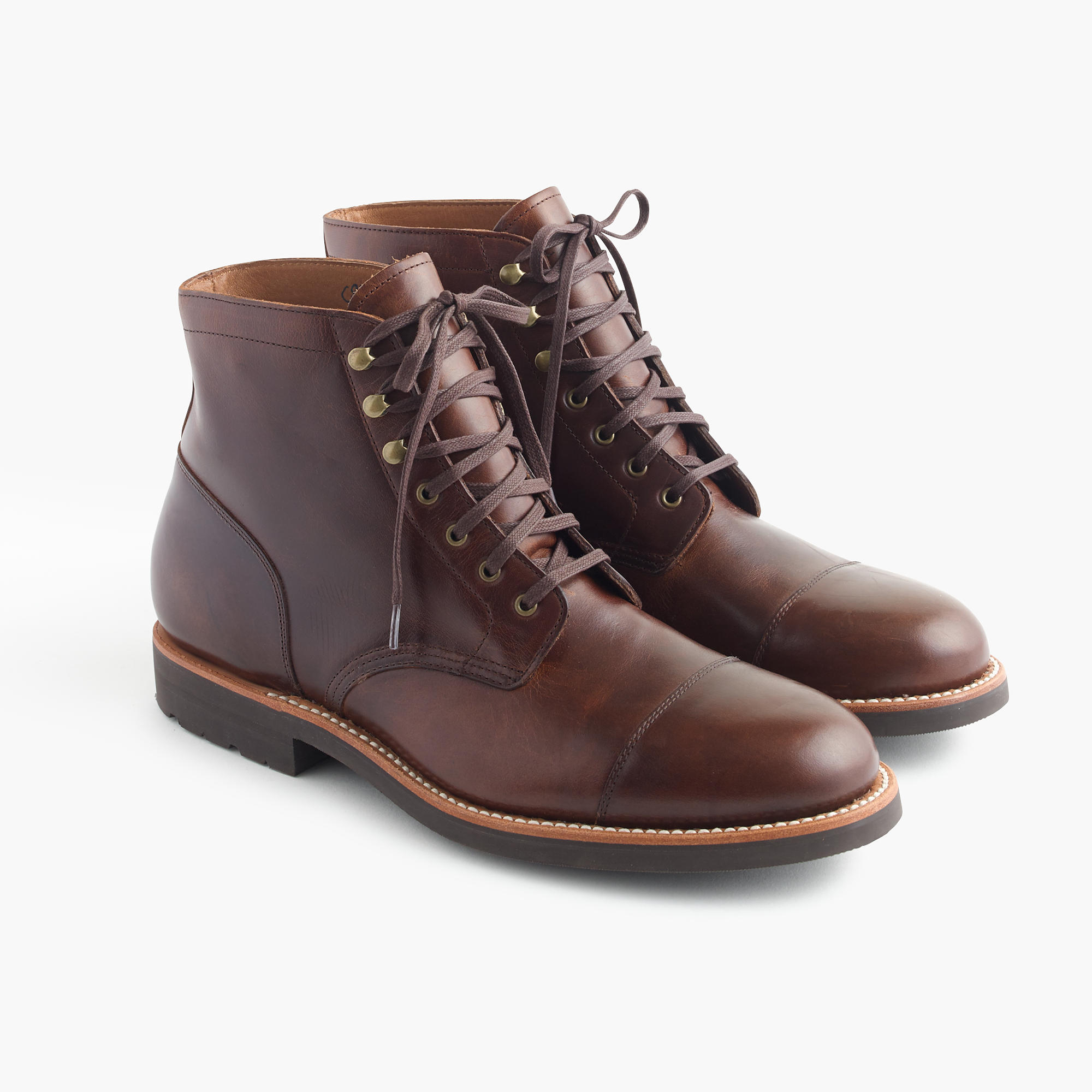 Kenton leather cap-toe boots : Men boots | J.Crew