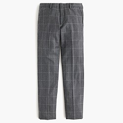 Ludlow suit pant in windowpane Italian wool flannel