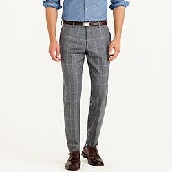 Ludlow suit pant in windowpane Italian wool flannel