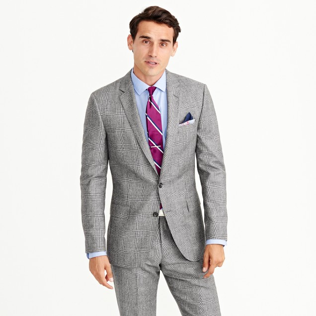 Ludlow suit jacket in American glen plaid wool