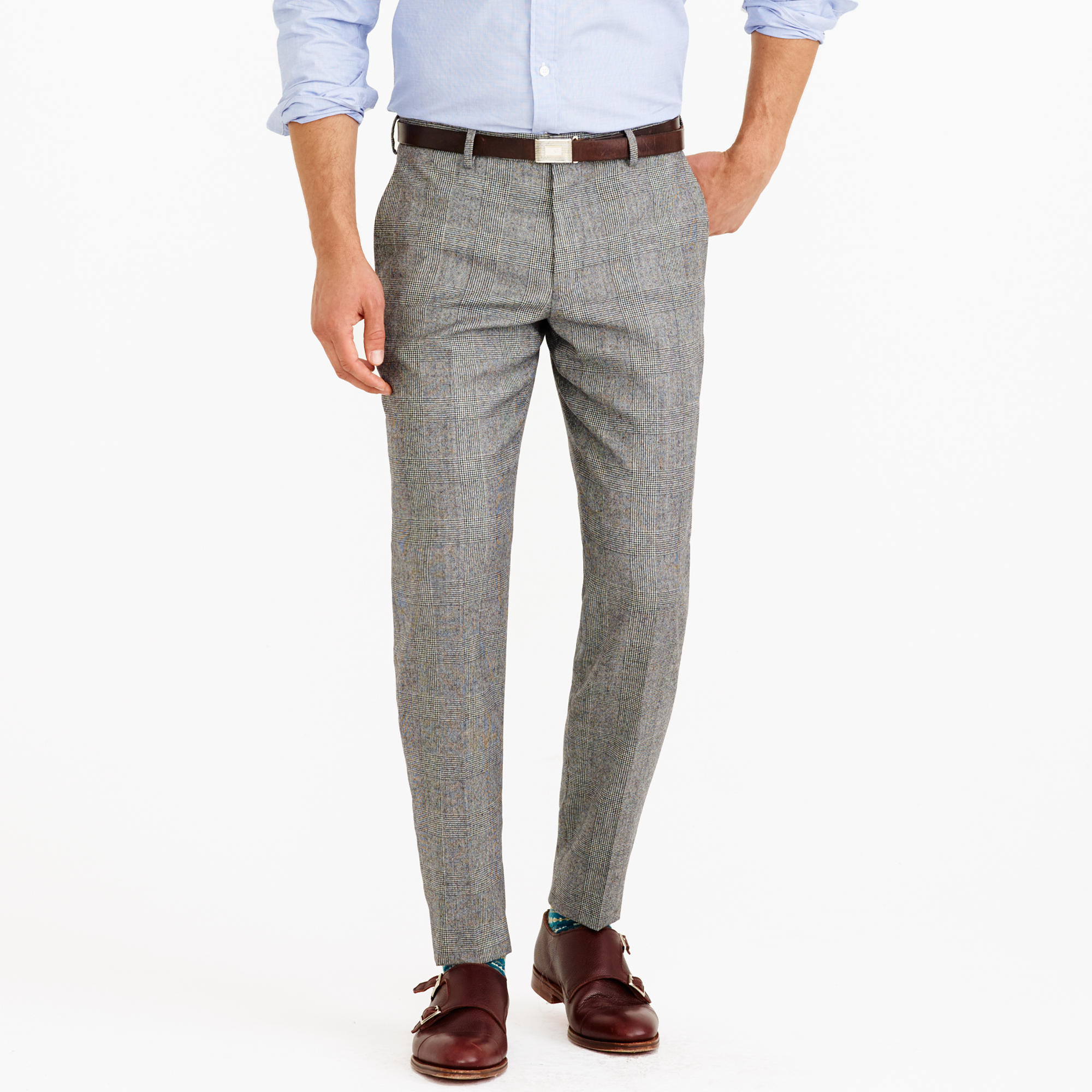Ludlow suit pant in American glen plaid wool : | J.Crew