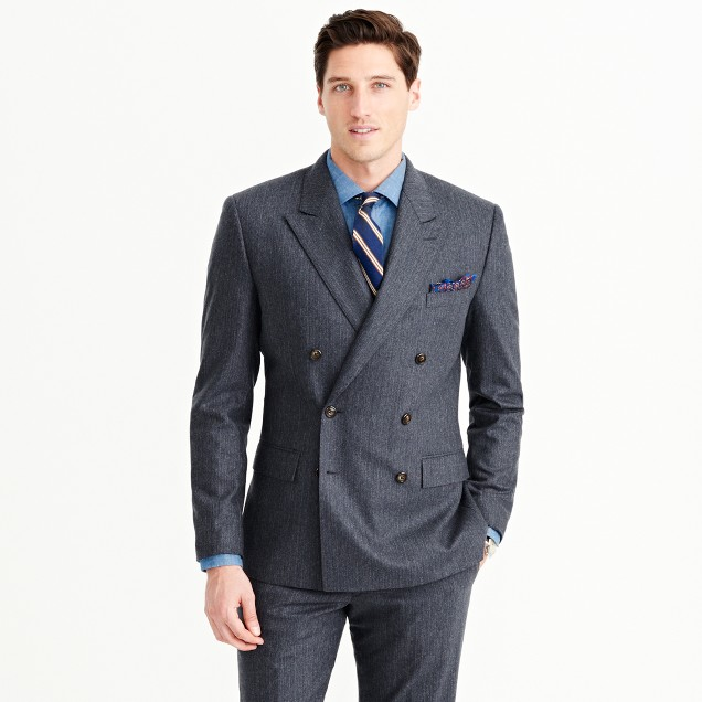 Wallace & Barnes peak-lapel suit jacket in Italian wool