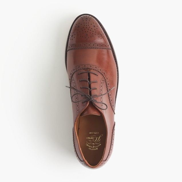 Ludlow semi-brogue oxfords