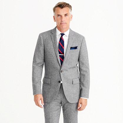 ludlow suit jacket in english miniherringbone wool