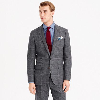 Ludlow suit jacket in Italian glen plaid wool