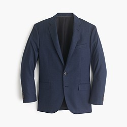 Crosby suit jacket in heathered Italian wool flannel
