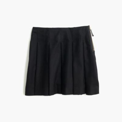 Girls' side-zip flannel skirt