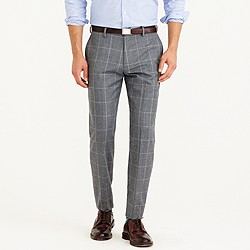 Crosby suit pant in windowpane Italian wool flannel
