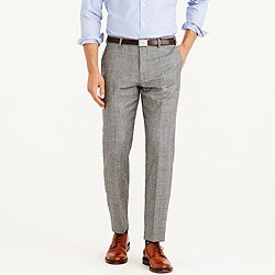 Crosby suit pant in American glen plaid wool