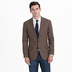 Ludlow blazer in windowpane Italian wool