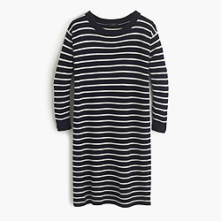 Merino striped sweater-dress