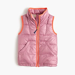 Girls' quilted puffer vest